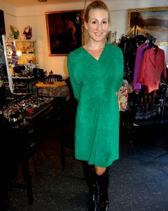 Green Vintage Leather Dress